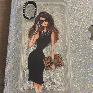 Casetify iPhone xs max glitter case with woman